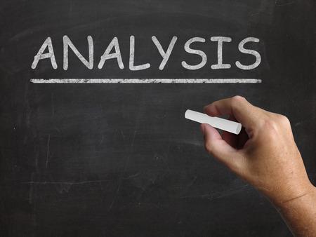 to interpret: Analysis Blackboard Showing Evaluating And Interpreting Information