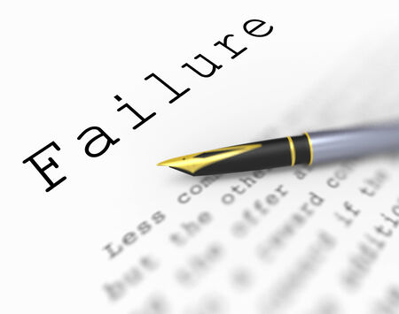 deficient: Failure Word Showing Unsuccessful Deficient Or Underachieving