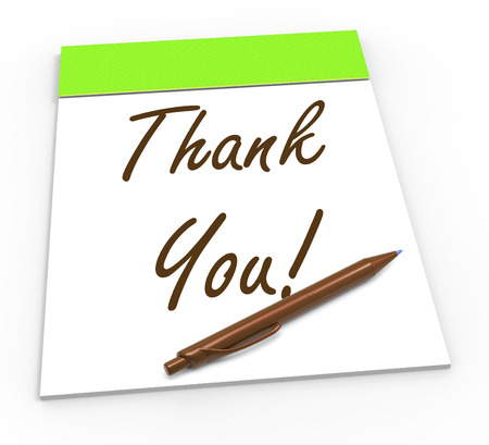 obliged: Thank You Notepad Meaning Gratitude And Appreciation