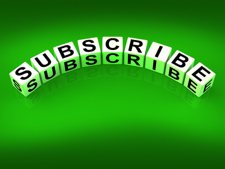 endorse: Subscribe Blocks Representing to Sign up or Apply