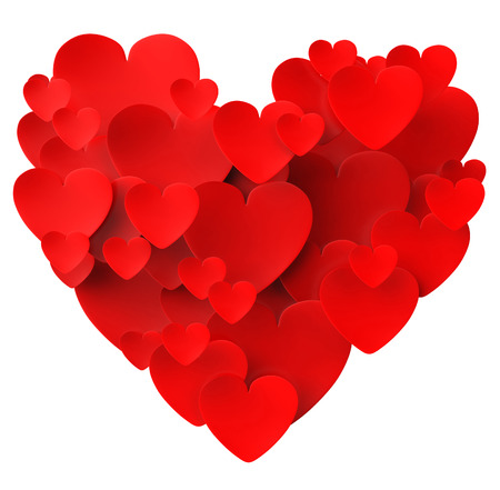 Heart Made With Hearts Meaning Dating Loving And Engagement Stock