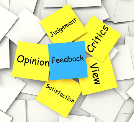 critics: Feedback Post-It Note Meaning Judgement Review And Critics