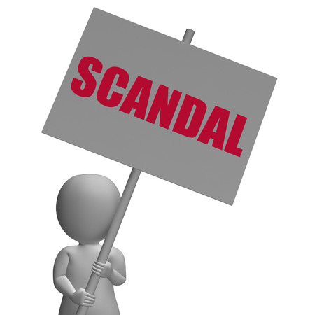 espionage: Scandal Protest Sign Meaning Political Uncovered Frauds And Espionage Stock Photo