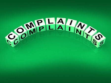 unacceptable: Complaints Dice Meaning Dissatisfied Angry And Criticism Stock Photo