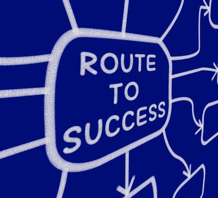 successes: Strada per il successo Schema Significato direzione del progresso e la realizzazione Archivio Fotografico