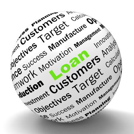 Loan Sphere Definition Meaning Bank Credit Or Funding Stock Photo - 28740798