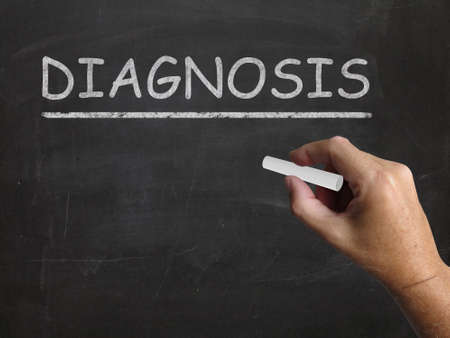pronounce: Diagnosis Blackboard Meaning Identifying Illness Or Problem