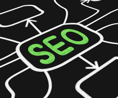 search engine optimization: SEO Diagram Meaning Search Engine Optimization On Web Stock Photo