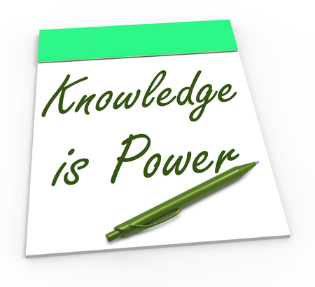 capabilities: Knowledge Is Power Showing Abilities Or Knowing Secrets Stock Photo