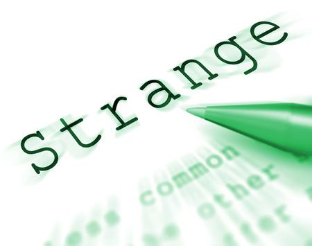 eigenaardig: Strange Word Display Weird Curious Of Eigen