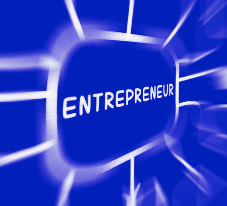 entrepreneurial: Entrepreneur Diagram Displaying Business Person And Start-Up
