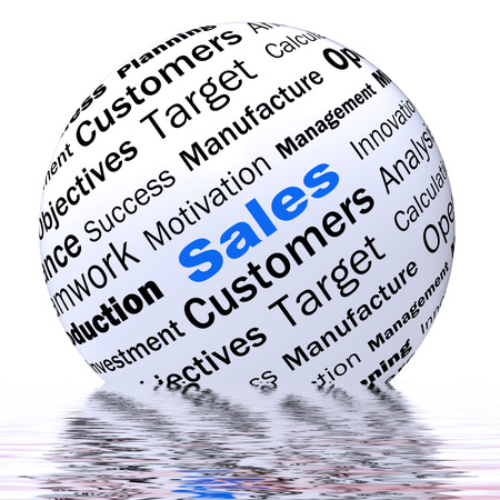 price reduction: Sales Sphere Definition Displaying Price Reduction Offers And Clearances