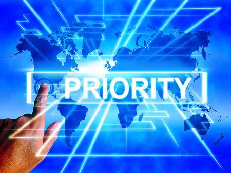 superiority: Mapa Prioridad Viendo Superioridad o Preferencia de Importancia internacional