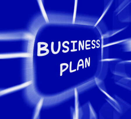 Business Plan Diagram Displaying Company Organization And Strategy photo