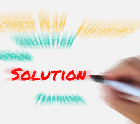 resolving: Solution on Whiteboard Displaying Solving or Resolving to Success