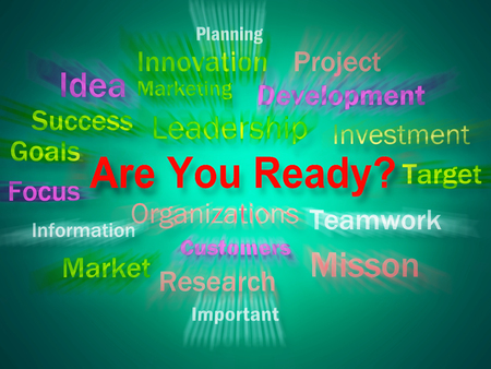Are You Ready Brainstorm Displaying Prepared For Business photo