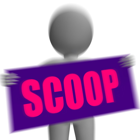 tatter: Scoop Sign Character Displaying Gossipmonger Or Intimate Tatter