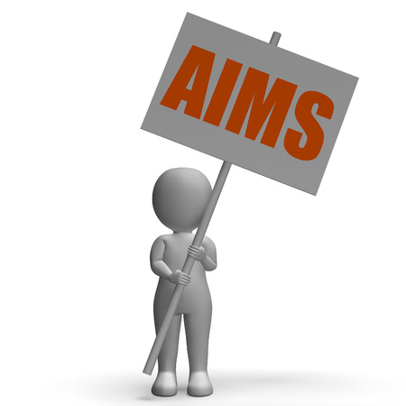 Aims Protest Banner Meaning Ambitious Targets Goals And Aspirations