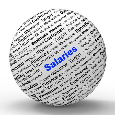 remuneraci�n: Salarios Esfera Definici�n Significado del empleador Ganancias salarios o ingresos Foto de archivo