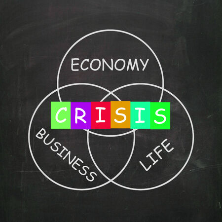 failing: Business Life Crisis Meaning Failing Economy or Depression Stock Photo
