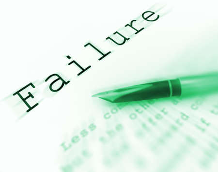 deficient: Failure Word Displaying Unsuccessful Deficient Or Underachieving