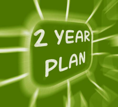 Two Year Plan Diagram Displaying 2 Year Planning photo