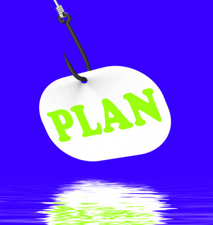 planned: Plan On Hook Displaying Planned Objectives Goals And Mission