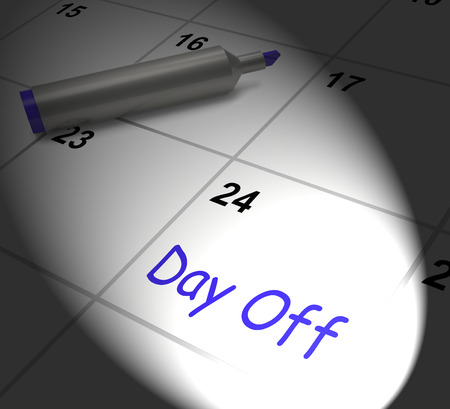 respite: Day Off Calendar Displaying Work Leave And Holiday