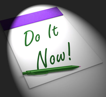 impulse: Do It Now! Notebook Displaying Motivation Impulse Or Urgency