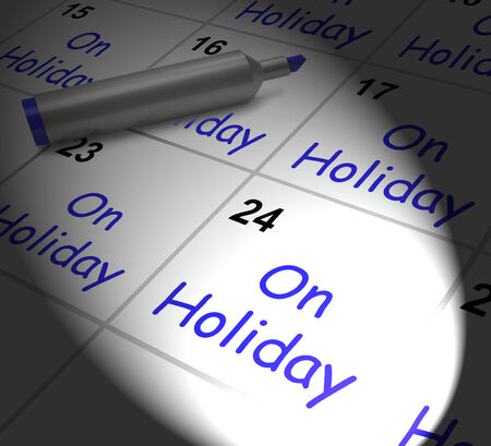 respite: On Holiday Calendar Displaying Annual Leave Or Time Off