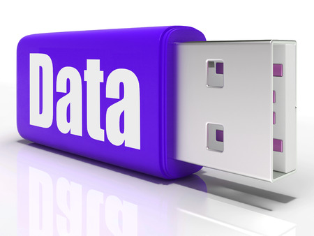 pen drive: Data Pen drive Meaning Database Files Or Digital Information Stock Photo