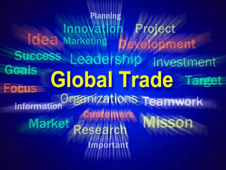 global trade: Global Trade Brainstorm Displaying Planning For International Commerce
