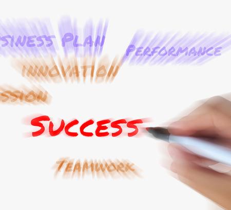 successes: Il successo sulla lavagna Visualizzazione di successo Soluzioni e risultato