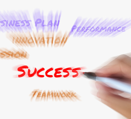 successes: Success on whiteboard Displaying Successful Solutions and Accomplishment