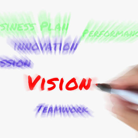 visionary: Vision on Whiteboard Displaying Ingenuity Visionary and Goals