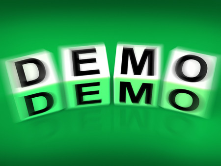 demos: Demo Blocks Displaying Demonstration Test or Try-out a Version
