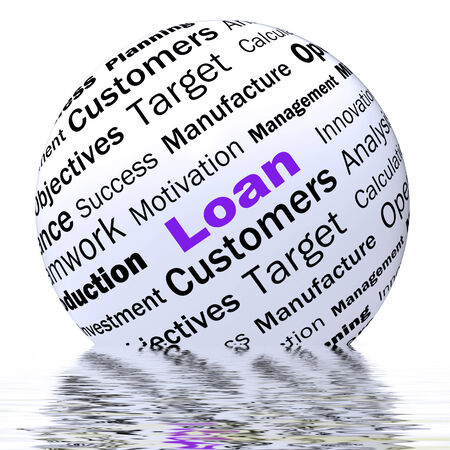loaning: Loan Sphere Definition Displaying Bank Credit Or Funding Stock Photo