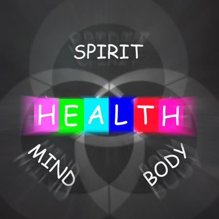 生心と注意深さを表示する体の健康
