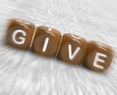 contribuire: Dare Dice Visualizzazione essere generosi e Contribute Archivio Fotografico