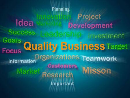 uitstekend: Quality Business Brainstorm Display uitstekende reputatie van het bedrijf Stockfoto