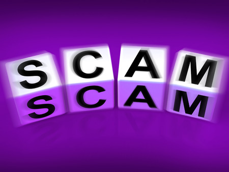 deceive: Scam Displaying Fraud Scheme to Rip-off or Deceive Stock Photo