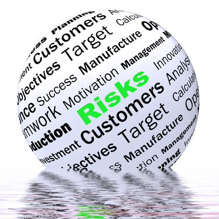 heavy risk: Risks Sphere Definition Displaying Insecurity Threatening And Financial Risks