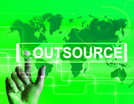 outsource: Outsource Map Displaying International Subcontracting or Outsourcing