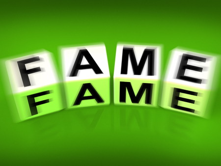 stardom: Fame Displaying Famous Renowned or Notable Celebrity
