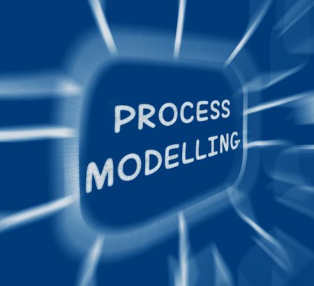 Process Modelling Diagram Displaying Representing Business Processes