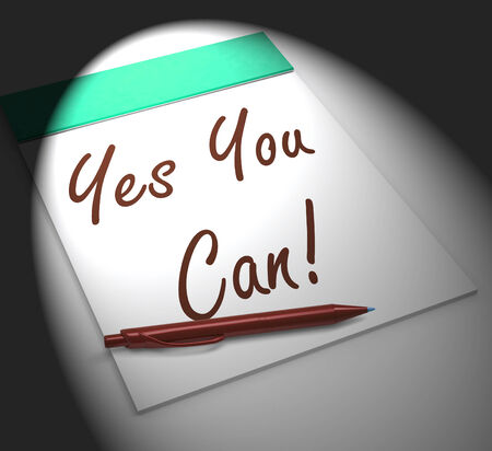 Yes You Can! Notebook Displaying Positive Incentive And Persistence