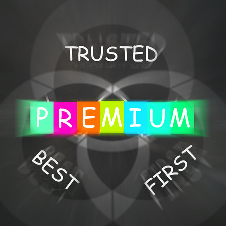 trusted: Premium Displaying to Best First and Trusted Stock Photo