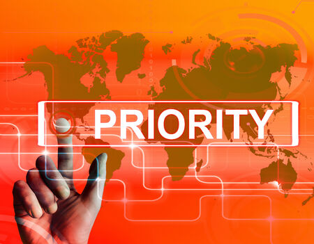 precedence: Priority Map Displaying Superiority or Preference in Importance Worldwide