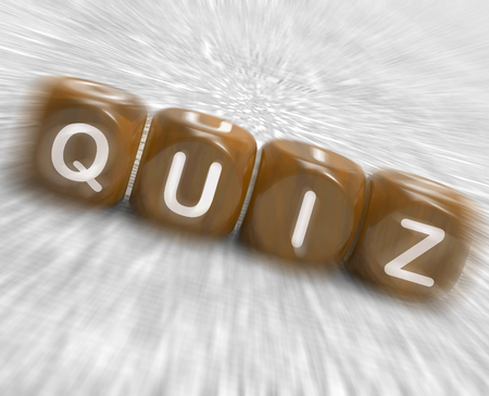 quizzing: Quiz Dice Displaying Correct Or Incorrect Answers Stock Photo
