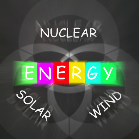 natural energy: Natural Energy Displaying Nuclear Wind and Solar Power